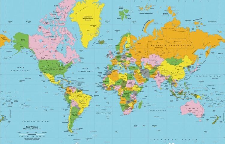 Karta Svijeta Sa Drzavama Karta 2020
