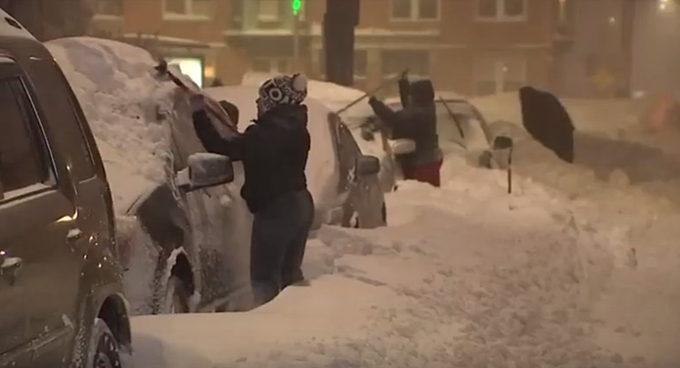 amerika  snijeg ciscenje