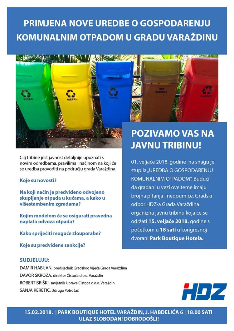 javna tribina hdz otpad
