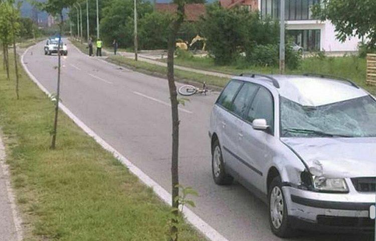 nesreca bicikl policija