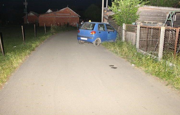policija nesreca auto ograda