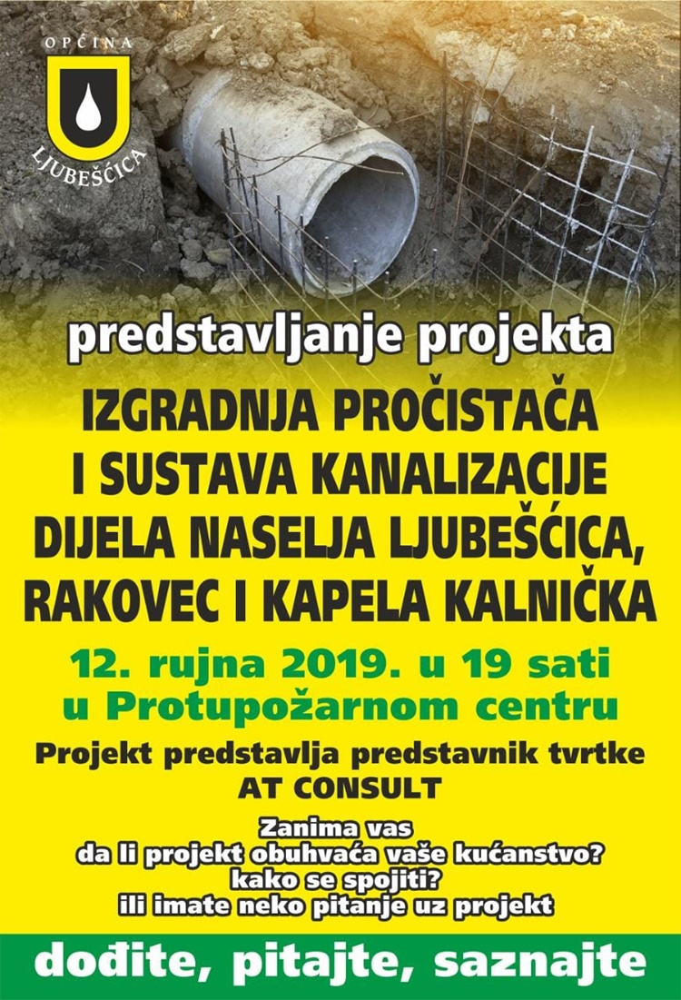 Predstavljanje projekta-pročistač i sustav kanalizacije 12.9.2019.