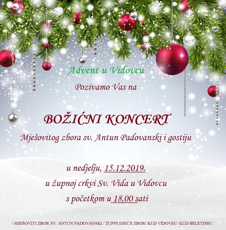bozicni koncert vidovec