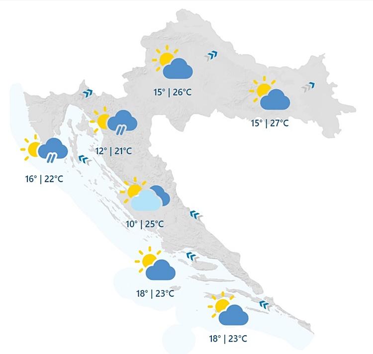 ZATIŠJE PRED BURU Danas uglavnom suho i vrlo toplo, uskoro obilna kiša i grmljavina