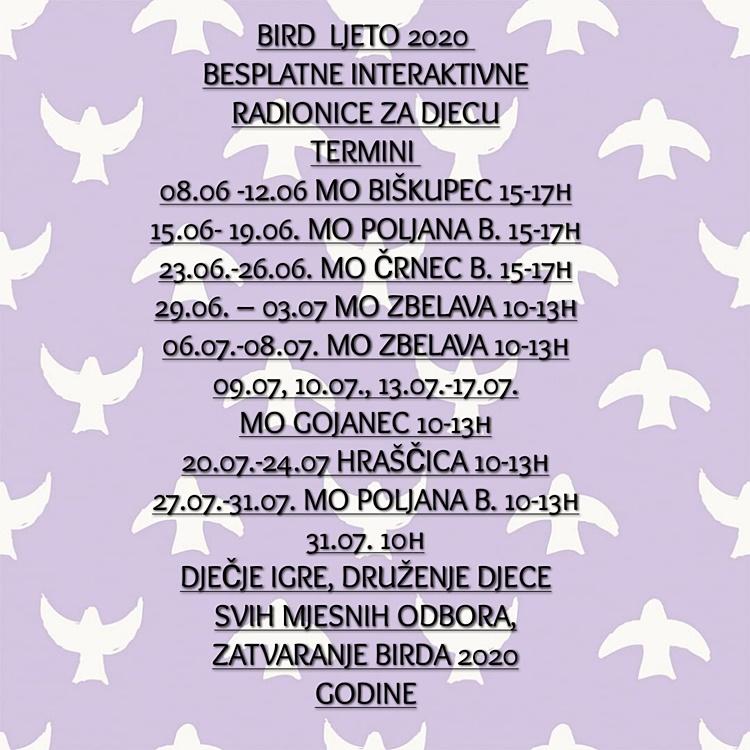 raspored BIRD