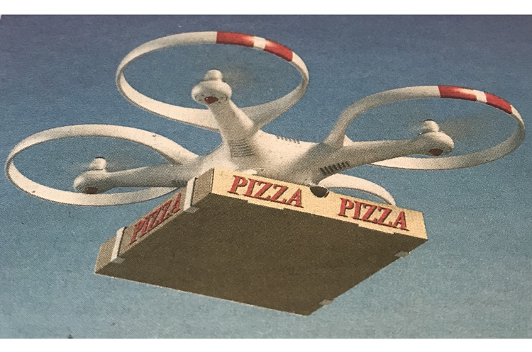 Pizza dron